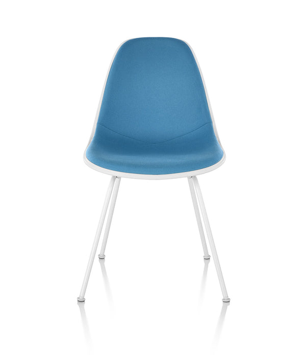 Eames® Molded Plastic Side Chair, 4-Leg Base - Upholstered