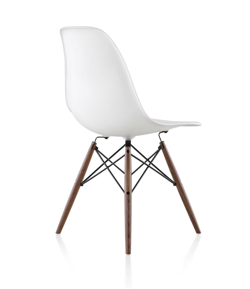 Eames Molded Plastic Side Chair, Dowel Base