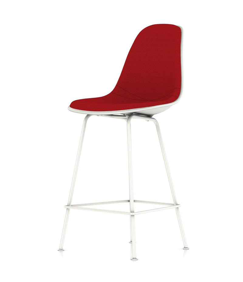Eames® Molded Plastic Stool, Counter Height - Upholstered