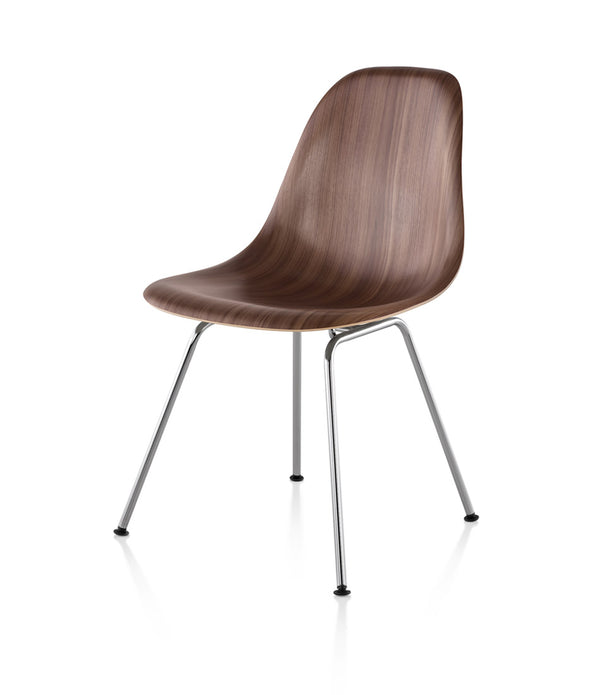 Eames Molded Wood Side Chair, 4-Leg Base