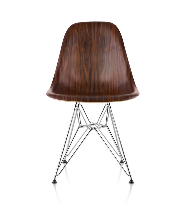 Eames® Molded Wood Side Chair, Wire Base