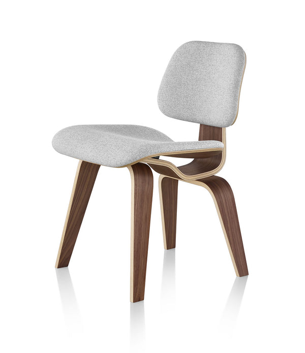 Eames® Molded Plywood Dining Chair with Wood Base Upholstered