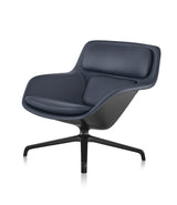 Striad® Low-Back Lounge Chair - 4-Star Swivel Base - Leather