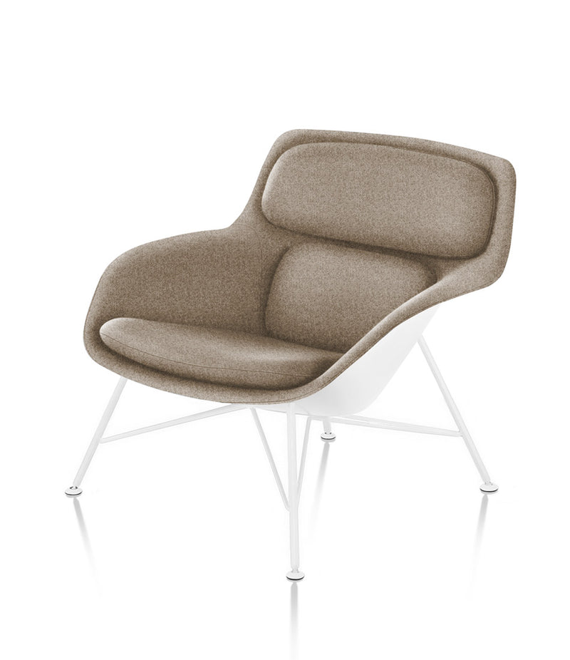Striad Low-Back Lounge Chair - Wire Base - Fabric