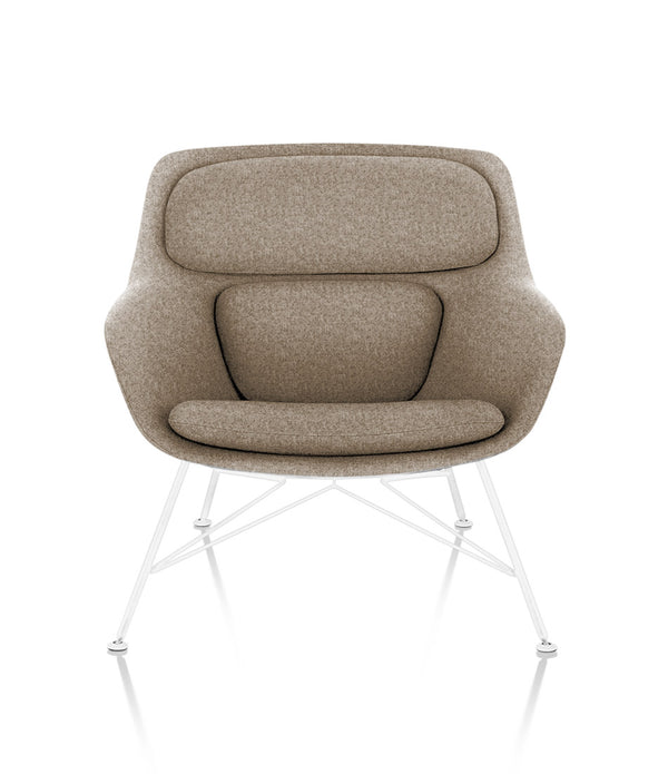 Striad® Low-Back Lounge Chair - Wire Base - Fabric