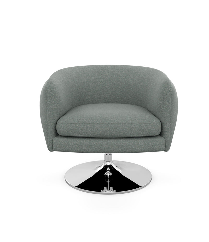 D'Urso Swivel Chair - Fabric