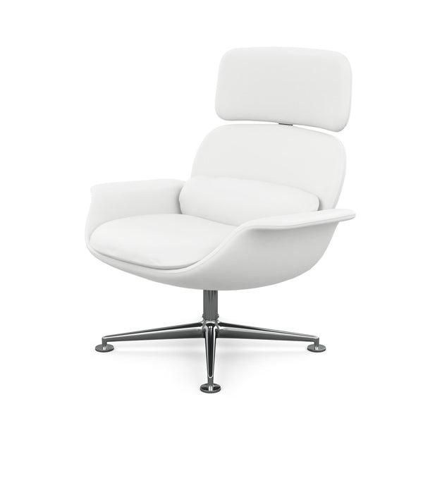 KN02 Swivel and Reclining High Back Lounge Chair