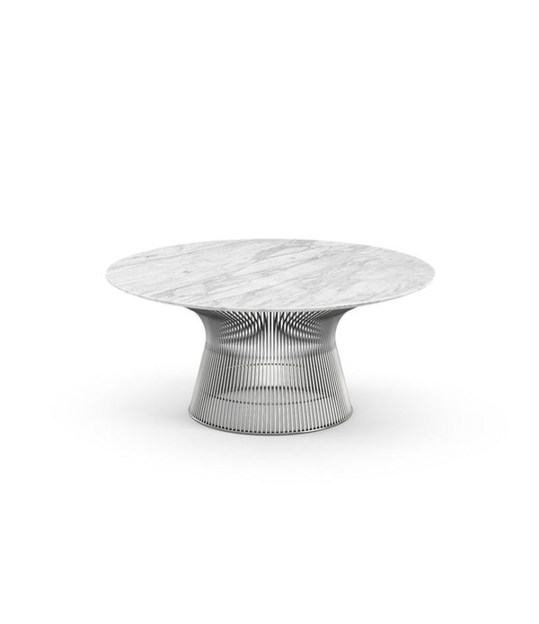 "Platner Polished Nickel Coffee Table 36"" - 42"""