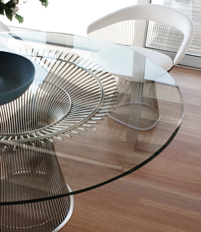 Platner Polished Nickel Dining Table