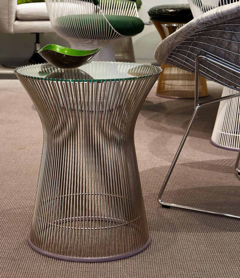 Platner Polished Nickel Side Table