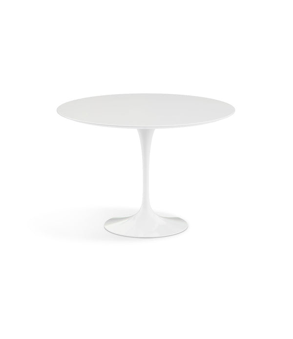 "Saarinen Round Dining Table - White Laminate/White Base 35"" - 60"""