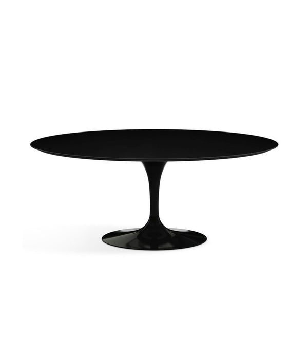 "Saarinen Oval Dining Table - Black Laminate/Black Base 72"" - 96"""
