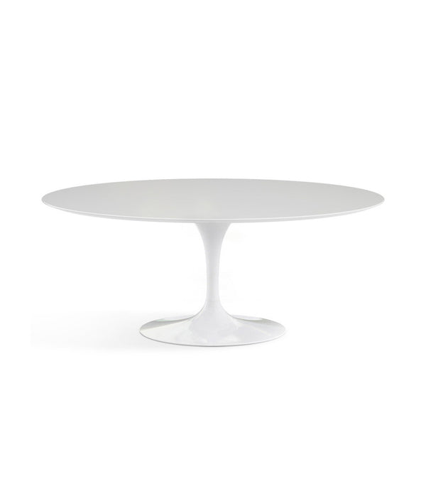"Saarinen Oval Dining Table - White Laminate/White Base 72"" - 96"""