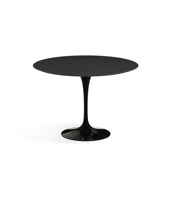 "Saarinen Round Dining Table - Black Laminate/Black Base 35"" - 60"""