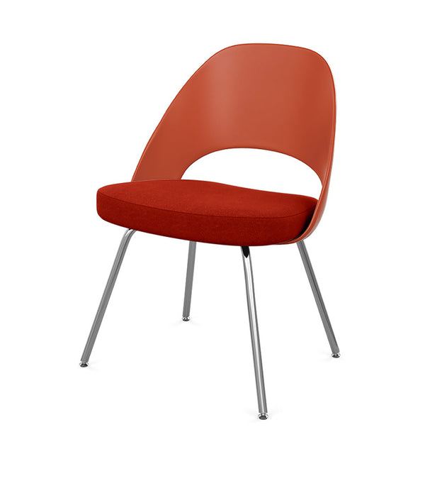 Saarinen Executive Chair with Molded Plastic Back - Tubular Legs