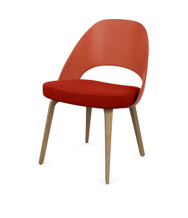 Saarinen Executive Chair with Molded Plastic Back - Wood Legs