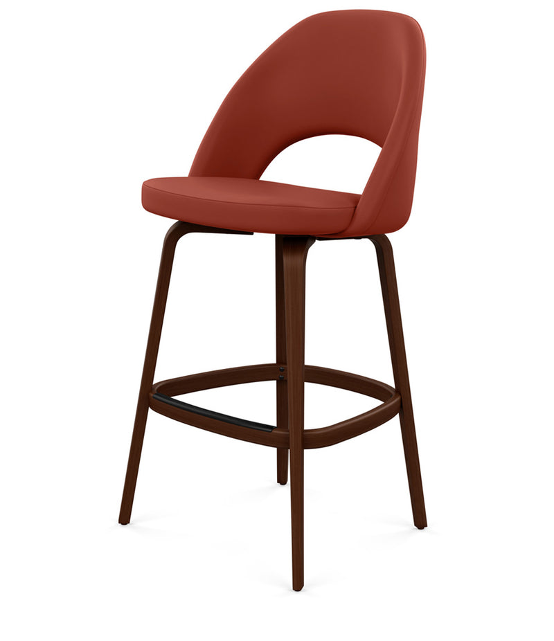 Saarinen Executive Stool, Bar Height - Leather