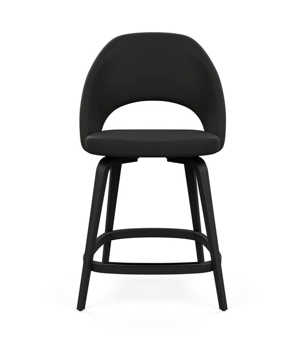 Saarinen Executive Stool, Counter Height - Leather