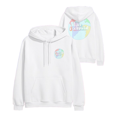 Surfaces Globe White Hoodie