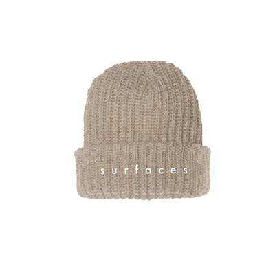 Surfaces Logo Oatmeal Beanie