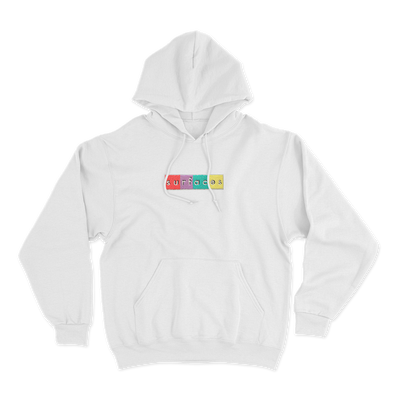 Surfaces white hoodie with chenille logo patch