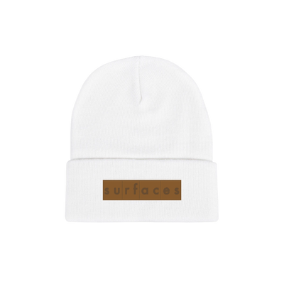Surfaces Patch Beanie White