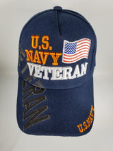 Load image into Gallery viewer, U.S. Navy Veteran w/Flag