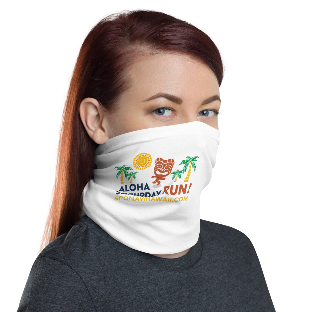 Neck Gaiter Aloha Saturday Run