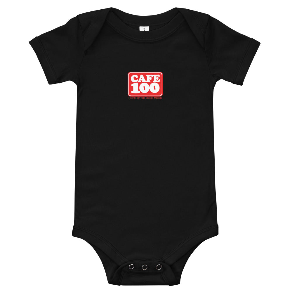 Baby Bodysuits Cafe100 Front printing