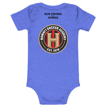 Load image into Gallery viewer, Baby Bodysuits Hawaii Soccer Academy Front & Back printing (Logo Black)