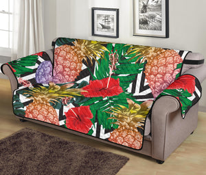 Summer Pineapple Love 70'' Sofa Protector