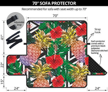 Load image into Gallery viewer, Summer Pineapple Love 70'' Sofa Protector
