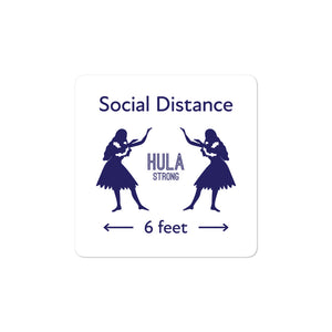Bubble-free stickers HULA STRONG Girl #3 (Social distance)