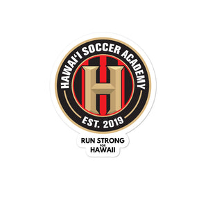 Bubble-free stickers Hawaii Soccer Academy
