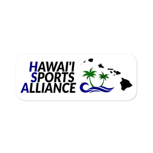 Bubble-free stickers Hawaii Sports Alliance