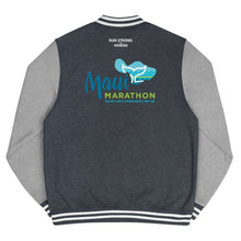 Load image into Gallery viewer, Men's Letterman Jacket Maui Marathon Back printing