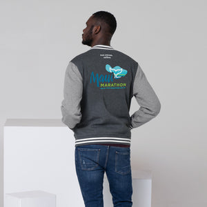 Men's Letterman Jacket Maui Marathon Back printing