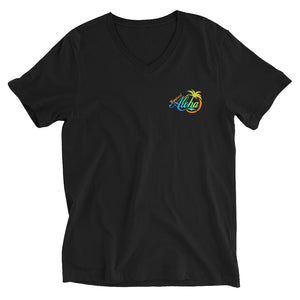 Unisex Short Sleeve V-Neck T-Shirt #SUPPORT ALOHA Series Coco