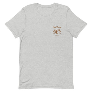 Short-Sleeve Unisex T-Shirt HULA STRONG Girl Logo Brown