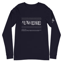 Load image into Gallery viewer, Unisex Long Sleeve Tee UWEHE Front & Shoulder printing Logo White