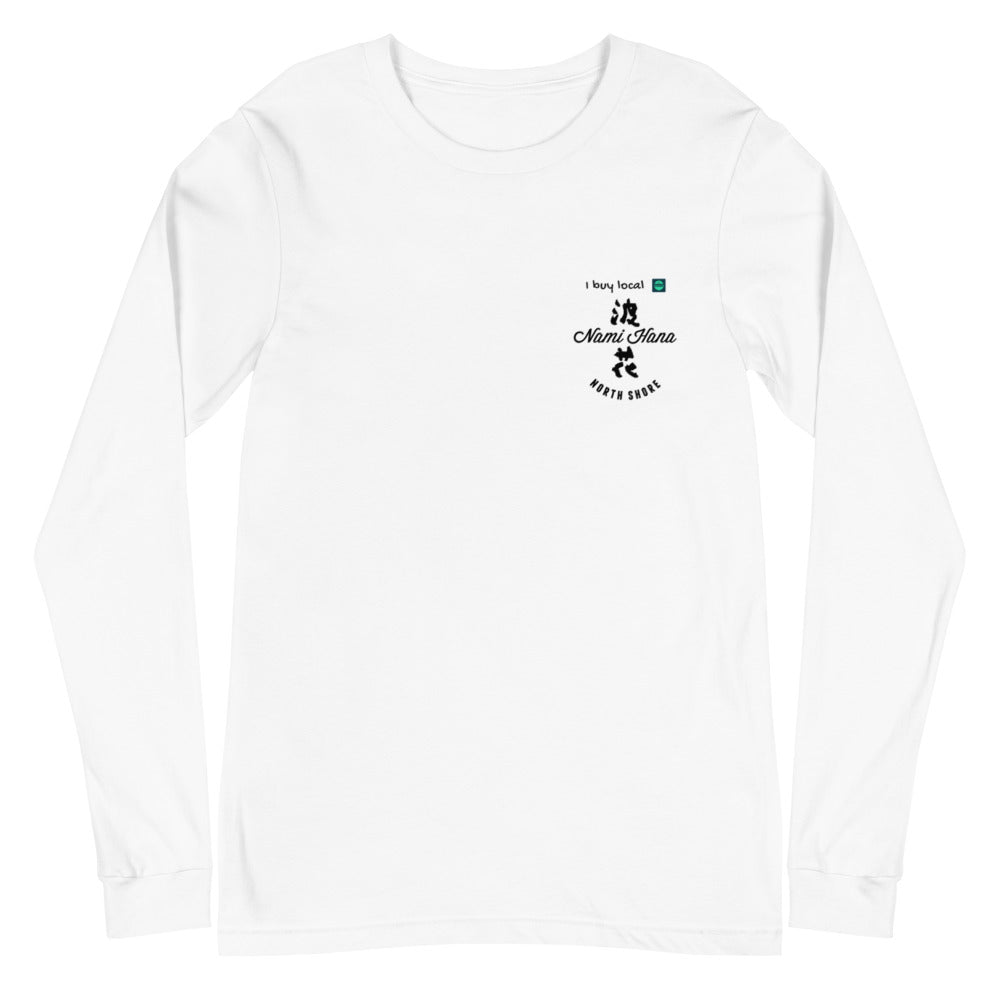 Unisex Long Sleeve Tee White Nami Hana