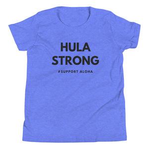 Youth Short Sleeve T-Shirt HULA STRONG Logo Black