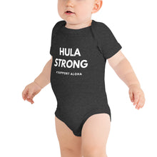 Load image into Gallery viewer, Baby Bodysuits HULA STRONG Logo White
