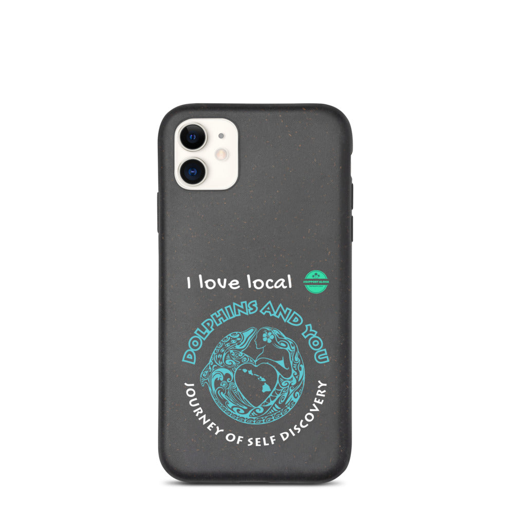 Biodegradable phone case Dolphins and You