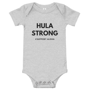 Baby Bodysuits HULA STRONG Logo Black