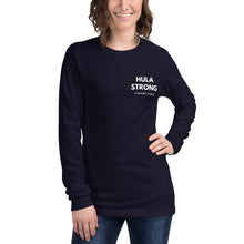 Load image into Gallery viewer, Unisex Long Sleeve Tee HULA STRONG Logo White