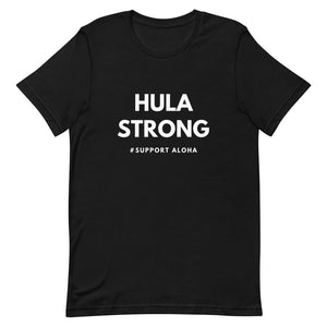 Short-Sleeve Unisex T-Shirt HULA STRONG Logo White
