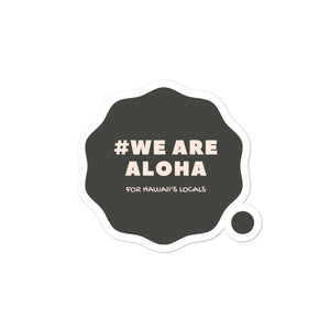 Bubble-free stickers #WE ARE ALOHA Series Cloud Black