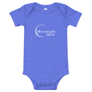 Baby Bodysuits Moonlight Mele Logo White