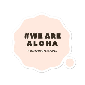 Bubble-free stickers #WE ARE ALOHA Series Cloud Pink
